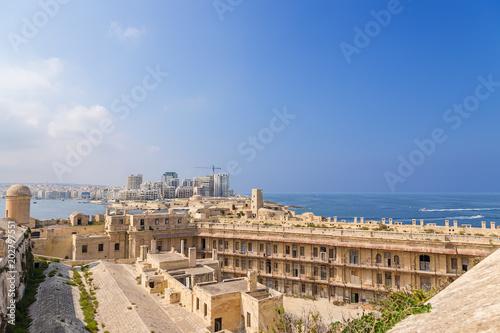 Staande foto Tunesië Valletta, Malta. Fort St. Elmo, Fort Tigne and Sliema