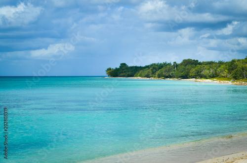 Spoed Foto op Canvas Eiland Caribbean Beach