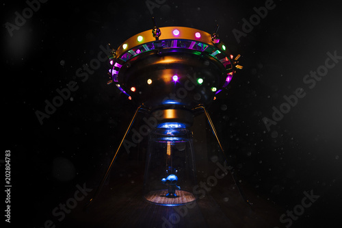 Foto op Aluminium UFO Extraterrestrial and flying saucer