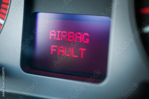 Car airbag fault Canvas Print