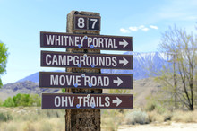 Whitney Portal Road Sign To Ca...
