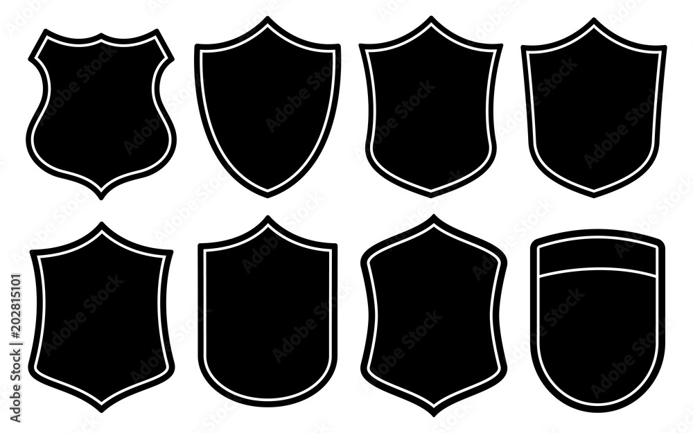 Fototapeta Badge Shape Set