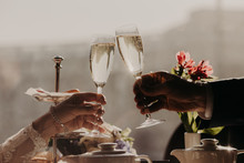 Man And Woman Celebrate Weddin...