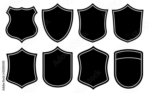 Obraz na plátně  Badge Shape Set