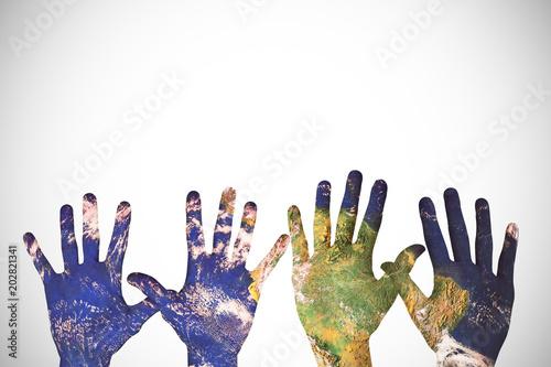 Garden Poster Brazil Hands against white background with vignette