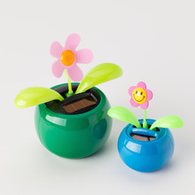 Solar Powered Toy Flowers On A...