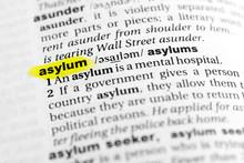 "Highlighted English Word ""asyl..."