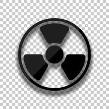 Hazard, Radiation. Simple Silh...