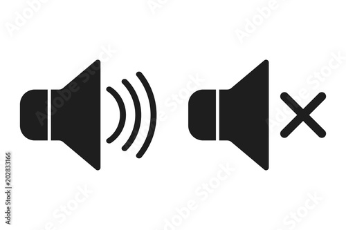 Fotografía  Sound icons.  Vector.