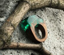 Green Ring Epoxy Resin Jewellery