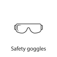 Safety Glasses Icon. Simple El...