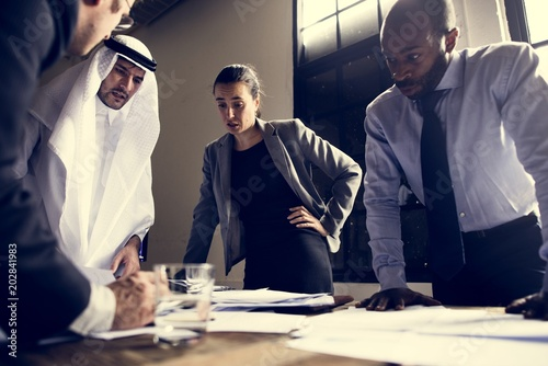 Cuadros en Lienzo Group of diverse business people having a meeting together