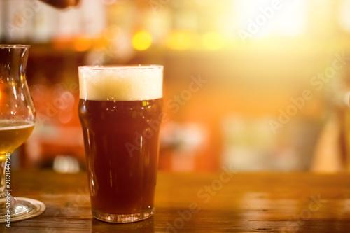 Photo  Draft beer on bar