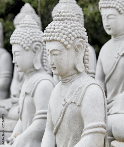 Buddhist Statues Tapéta, Fotótapéta