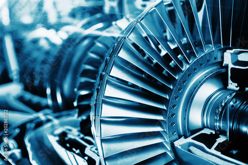 Turbine Engine Profile.  Aviation Technologies. Fototapeta