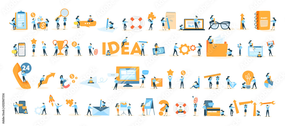 Fototapety, obrazy: Business icons set.