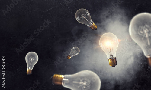 Photo  Glass light bulb