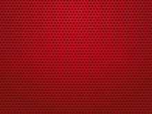 Abstract Red Perforated Metal ...