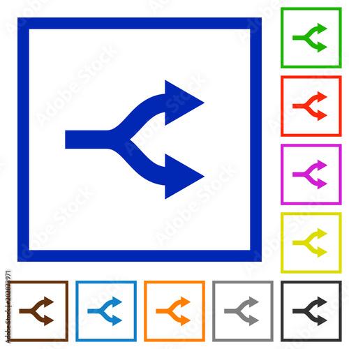 Split arrows flat framed icons фототапет