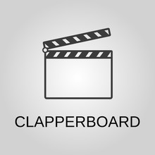 Clapperboard Icon. Clapperboar...