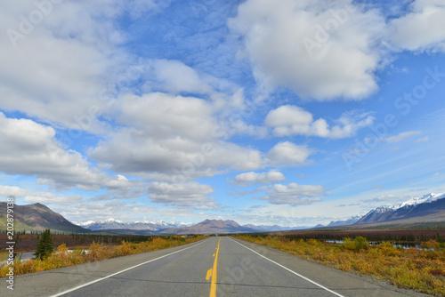 アラスカのハイウェイ