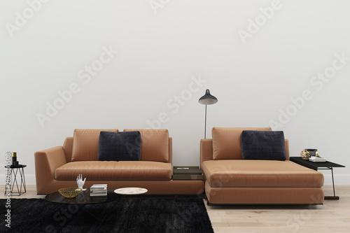 Terrific Leather Sofa Living Room Black Rug Modern 3D Render Alphanode Cool Chair Designs And Ideas Alphanodeonline