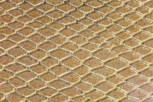 Golden Background Of Scales Similar To Snakeskin With Rhomboid S