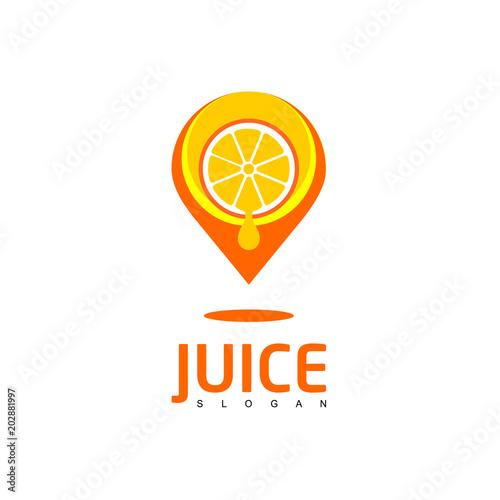 Juice Logo, Orange Juice Spot Icon - Buy this stock vector and