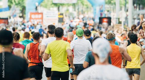 Fotografija  Menschenmassen bei Start Ziel Marathon