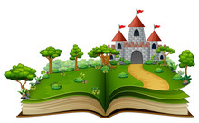 Story Book With A Castle In Th...