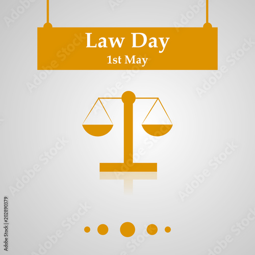 Illustration of USA Law Day background Tablou Canvas