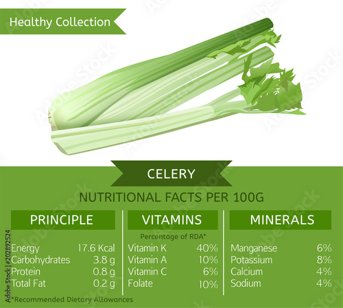 Fotografia  Healthy Collection Celery
