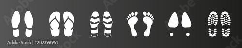 Photographie Symbol-Set - Fußspuren