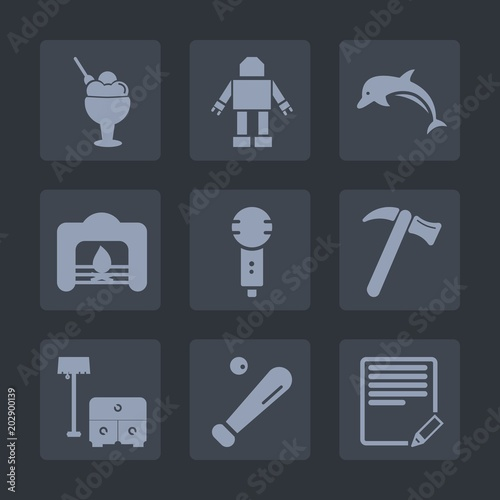 Premium set of fill icons Wallpaper Mural