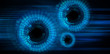 binary circuit board future technology, blue eye cyber security concept background, abstract hi speed digital internet.motion move blur. pixel