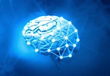 Artificial Intelligent Brain. 3d Illustration