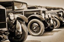 Vintage Cars, Sepia