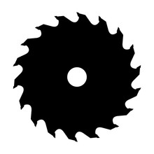 Silhouette Of Saw Blade