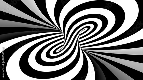 Crédence de cuisine en verre imprimé Spirale Hypnotic spiral illusion 3D rendering