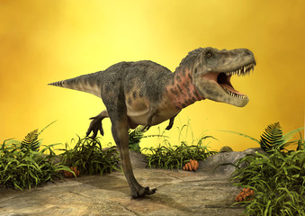 3D Rendering Dinosaur Tarbosaurus