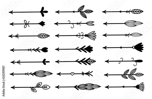 In de dag Boho Stijl Rustic, boho arrows set vector