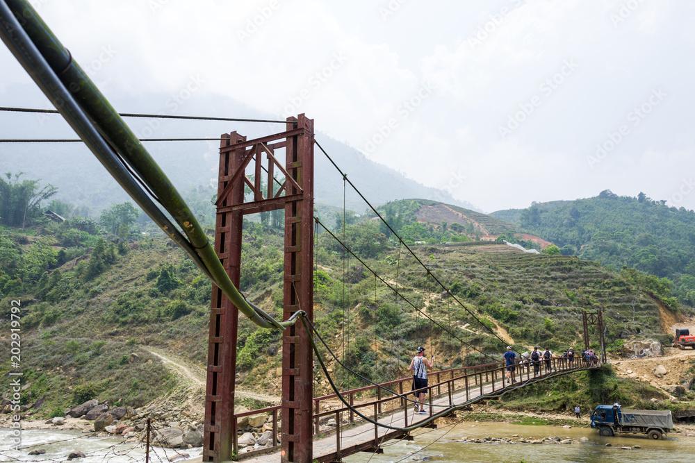 Vietnam Near Acheter A Photographie Sapa Le Sur Bridge nWxIw71z