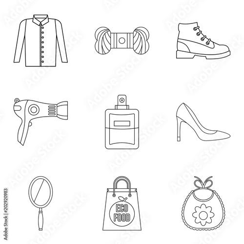 Tablou Canvas Petticoat icons set