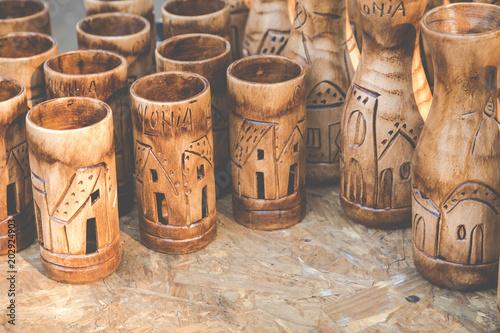 Foto op Canvas Zuid-Amerika land Wooden souvenir from Colonia del Sacramento, Uruguay.