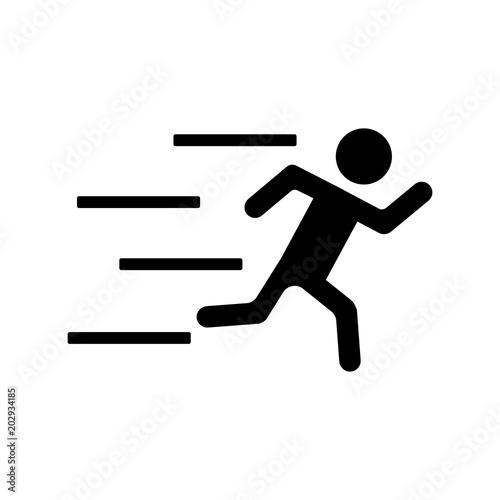 Fotografering  Running Man icon
