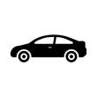 Simple Car Icon Vector. Flat Hatchback symbol. Perfect Black pictogram illustration on white background.