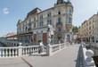 Słowenia - 22 sierpnia 2017: Ljubliana w sierpniowy, słoneczny dzień