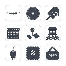 Premium Fill Icons Set On Whit...