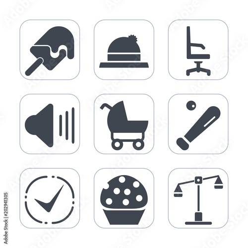 Fotografie, Tablou  Premium fill icons set on white background