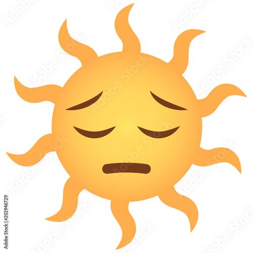 Fotografie, Obraz  Emoji bedauernd - Sonne